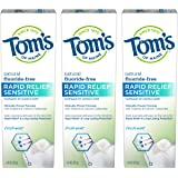 Tom's of Maine, Natural Rapid Relief Sensitive Toothpaste, Natural Toothpaste, Sensitive Toothpaste, Fresh Mint, 4 Ounce…