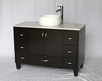 46 Inch Contemporary Style Single Sink Bathroom Vanity Model