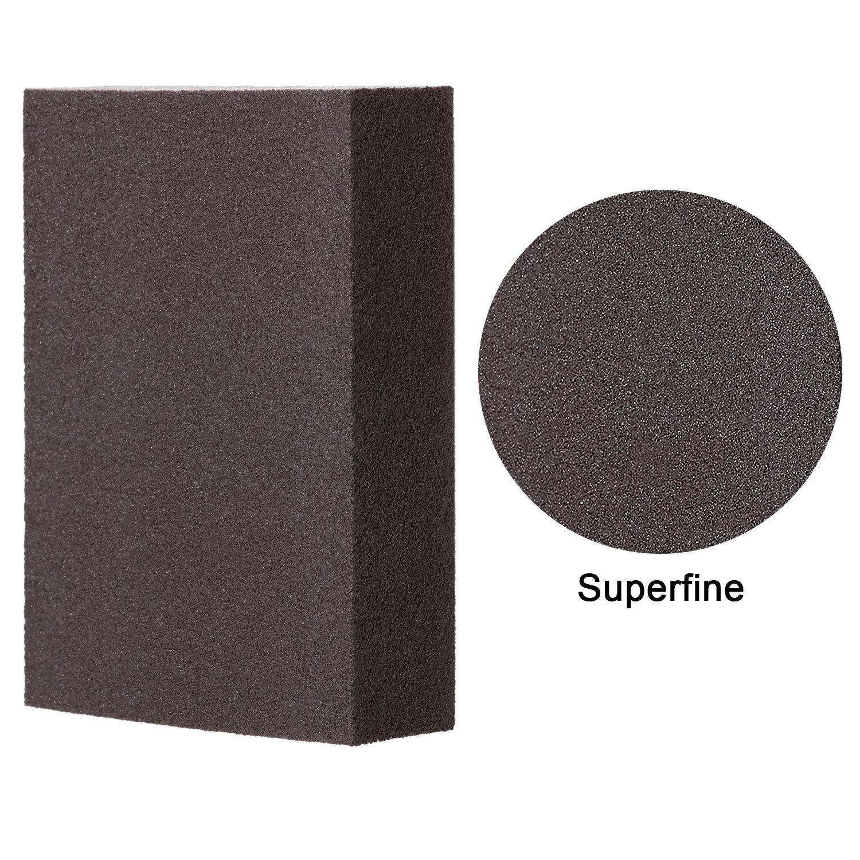 Washable and Reusable Sand Sponge Kit Sanding Blocks Superfine Grade Sanding Sponge 8 Pieces