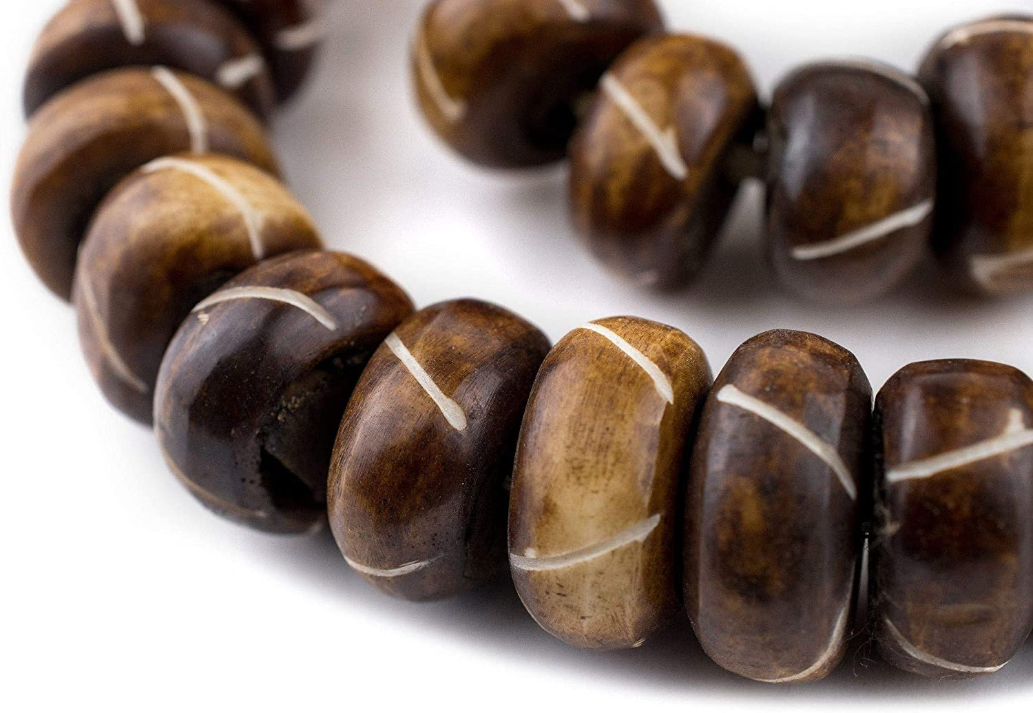 Amazon Com 40 Criss Cross Carved Brown Bone Beads Large Bone Ball Beads Kenya Trade Beads Round Shaped Beads Big Bone Beads Beaded Wall Hanging Arts Crafts Sewing