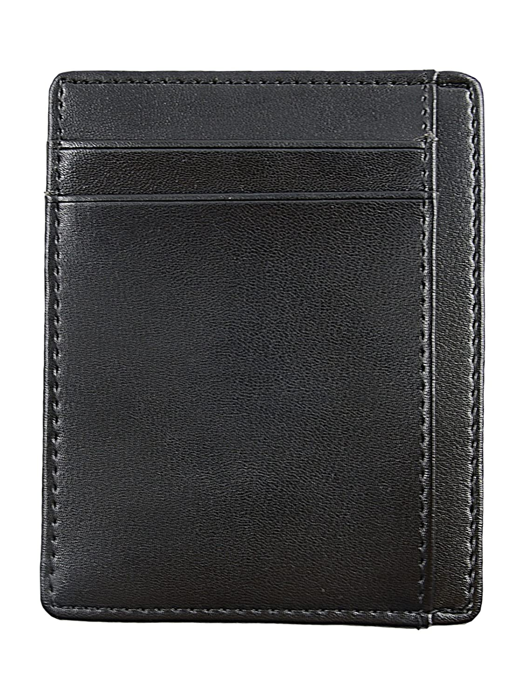 Zando Men Slim Genuine Leather Wallet Money Clip Wallets RFID Blocking Credit Card Holder Minimalist Front Pocket Wallet