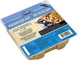 Heath Outdoor Products DD-24 Woodpecker Suet Cake Specially Blend To Attract Woodperkers and Other Colorful Songbirds All-Season No Melt, 5.2 x 1.2 x 5.2 inches, 10 Ounce x 12 Pack, Blue