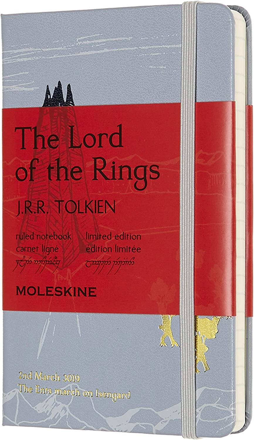 """Moleskine Limited Edition Lord Of The Rings Notebook, Hard Cover, Pocket (3.5"""" x 5.5"""") Ruled/Lined, 192 Pages"""
