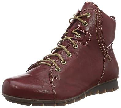 Think Menscha Stiefelette, Damen Desert Boots, Rot (Rosso/Kombi 72), 37 EU