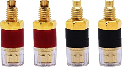 2x Amplifier Speaker Terminal Binding Post Banana Plug Connector Gold Plated KK