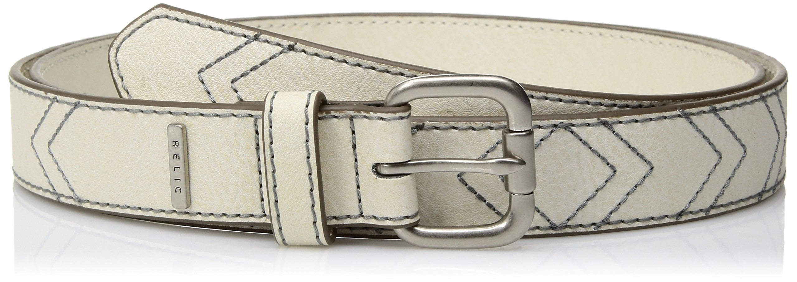 Relic Womens Chevron Stitch Belt, Cloud White, 2X