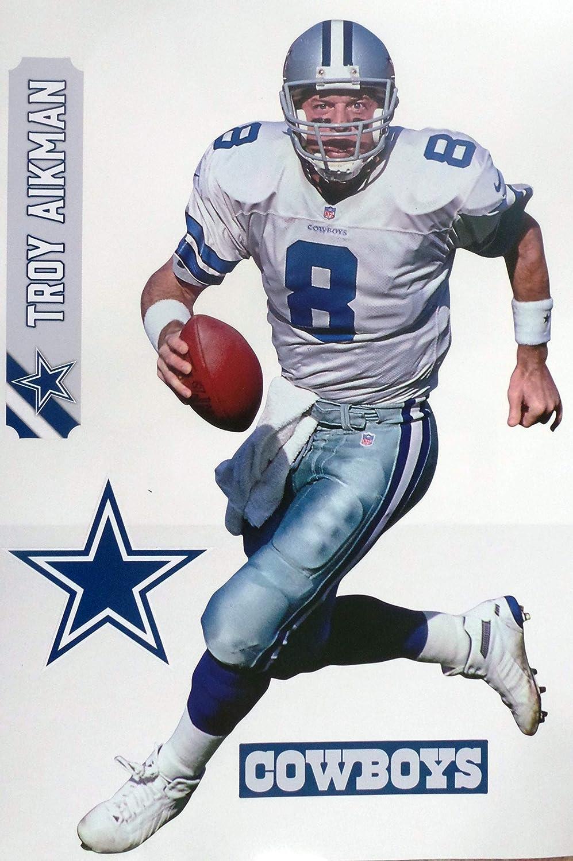 Troy Aikman FATHEAD Graphic + Cowboys Logo Set Official Vinyl Wall Graphics 17