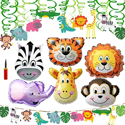 16 Jungle candle Favors Monkey Zebra Lion Elephant Baby Shower Favor Birthday