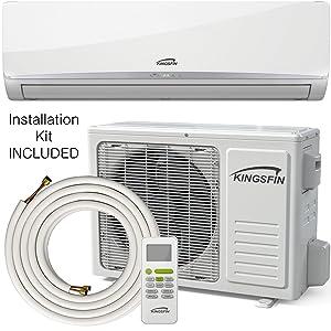 Kingsfin 9000BTU Mini Split Ductless AC Air Conditioner and Heat Pump