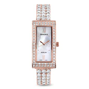 c4d13498de9 Image Unavailable. Image not available for. Color  Gemorie Women Fashion  Watch with Jewelry Band in Rose Gold ...