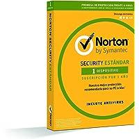 Norton Security Estándar 2019 - Antivirus, PC/Mac, 1 dispositivo, 1 año