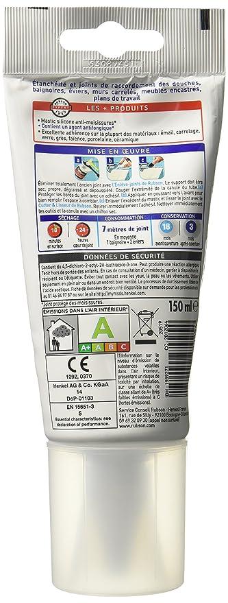 Rubson Tube Souple De Mastic Blanc Bain Cuisine Pure Pour Des