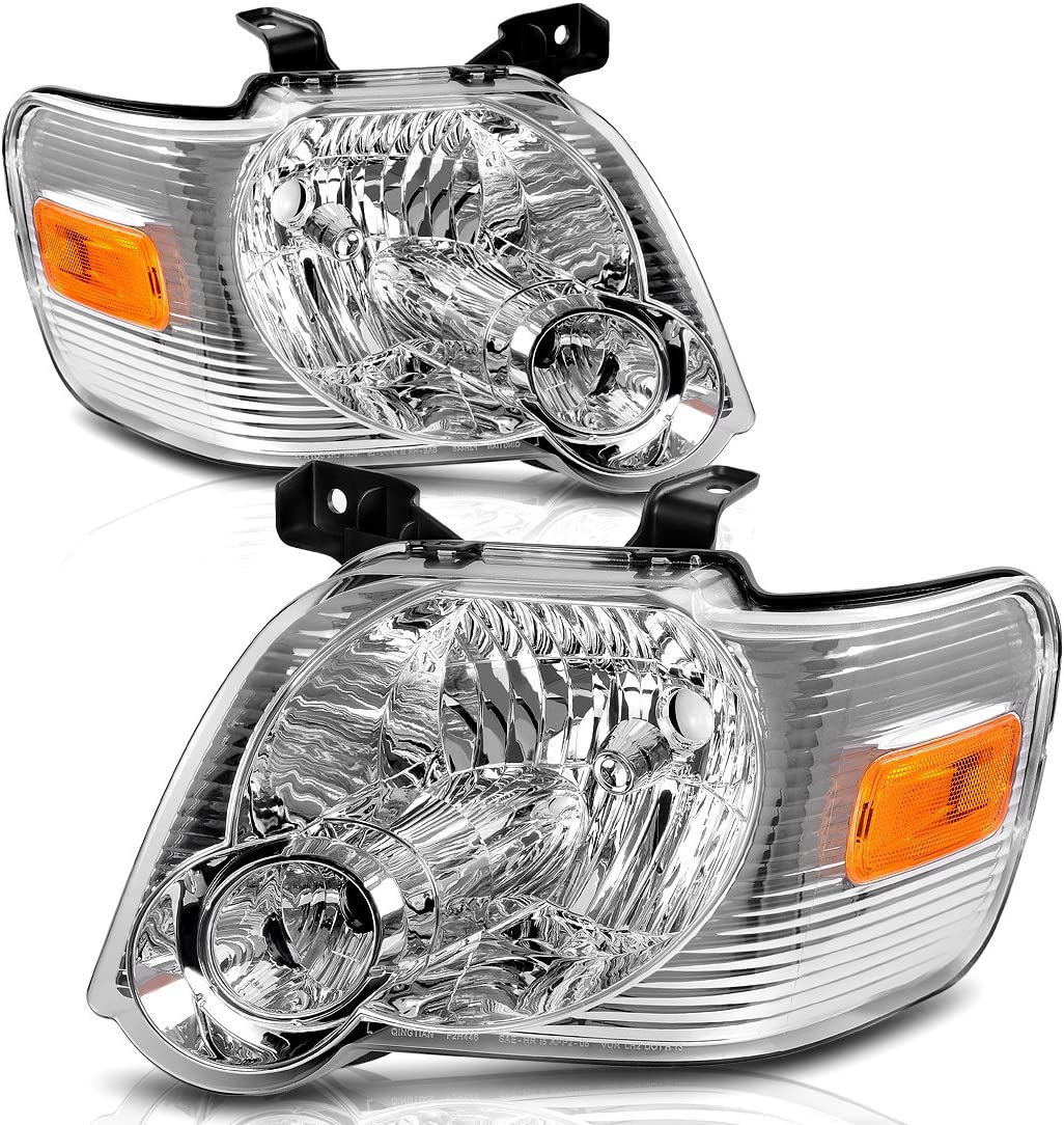 FOR 2006-2010 FORD EXPLORER REPLACEMENT HEADLIGHT HEADLAMP LAMP CHROME DRIVER LH
