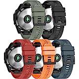ANCOOL Compatible Garmin Fenix 5 Band Easy Fit 22mm Width Soft Silicone Watch Strap Replacement for Garmin Fenix 5/Fenix 5 Plus/Forerunner 935/Approach S60/Quatix 5