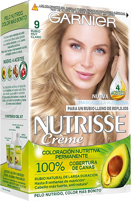 Garnier Nutrisse Creme coloración permanente con mascarilla nutritiva de cuatro aceites - Rubio muy Claro 9.0