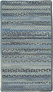 "product image for Harborview Blue 0' 36"" x 0' 36"" Cross Sewn Rectangle Braided Rug"