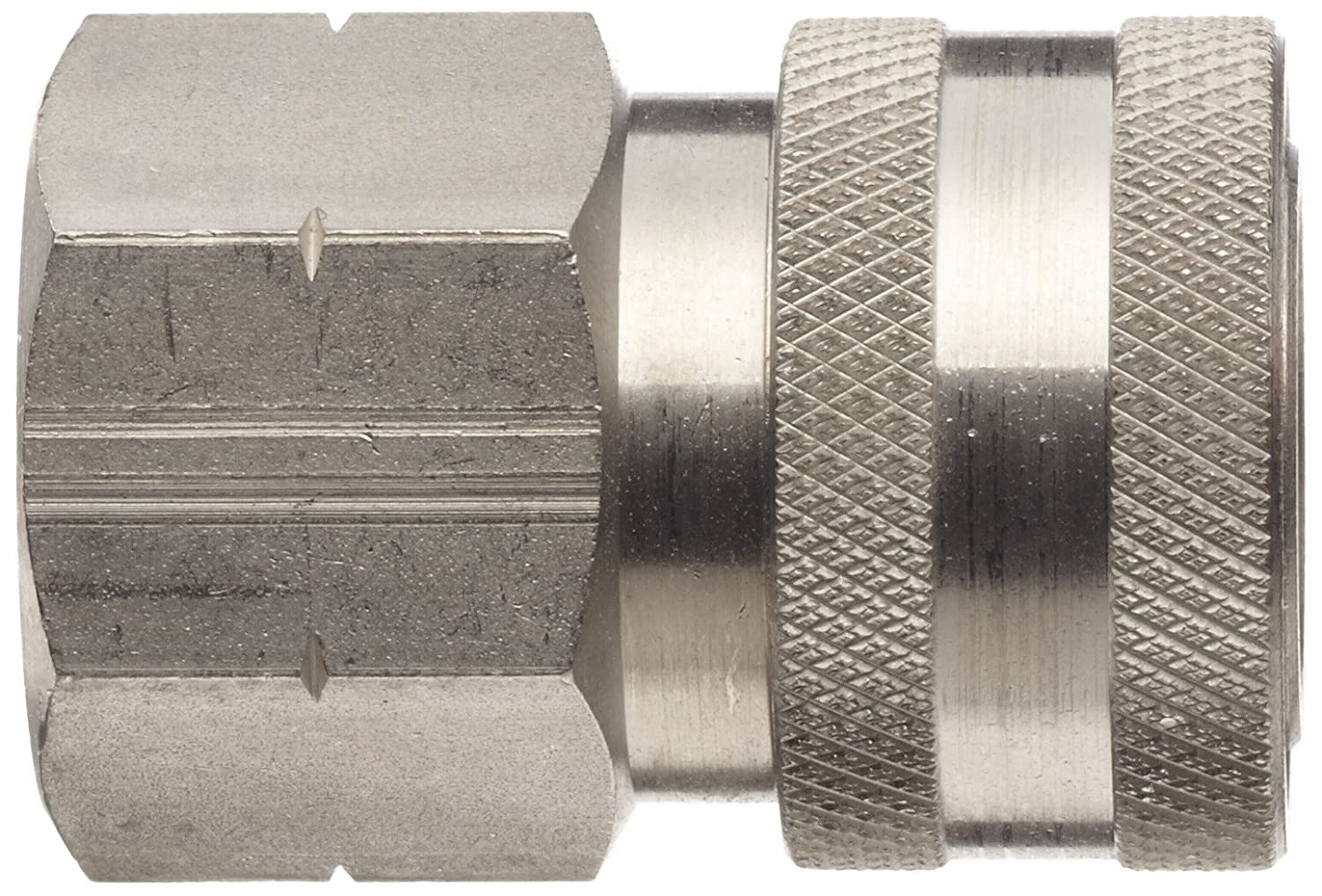 3//4-14 Straight Thread Coupler Dixon STFC6SS Stainless Steel 303 Hydraulic Quick-Connect Fitting 3//4 Female Coupling