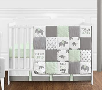 Navy Blue and Mint Woodland Arrow 4 Piece Baby Boy or Girl Crib Bed Bedding Set Without Bumper Grey