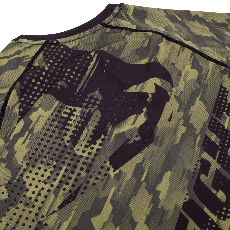 Venum Mens Tecmo Long Sleeve Rash Guard MMA BJJ Khaki VENUM-03139-015