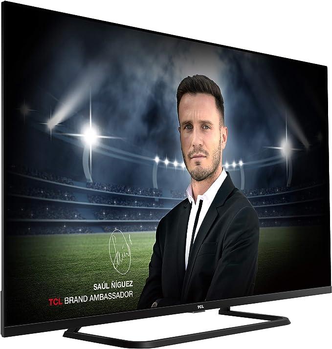 TCL 55EP680 Televisor de 139cm (55 pulgadas), Smart TV con Resolución 4K UHD, HDR10+, Micro Dimming Pro, Alexa, Android TV, Google Assistant Multicolor: Amazon.es: Electrónica