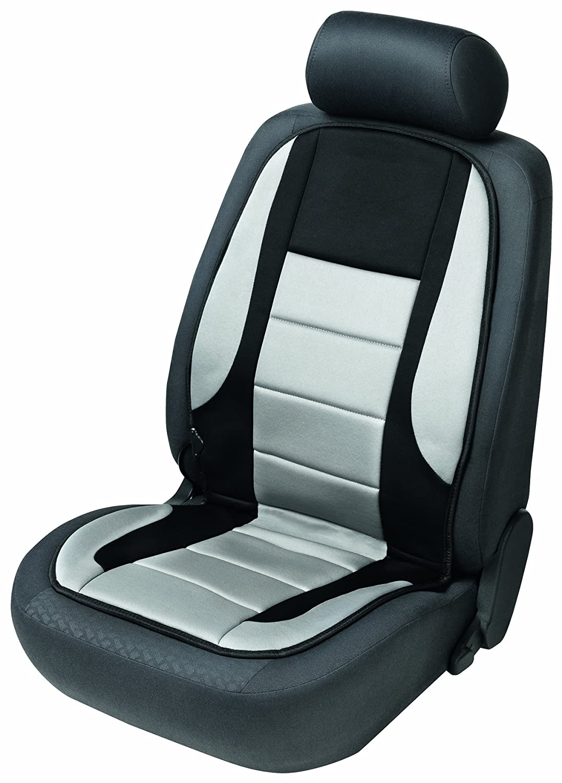 2x beheizbare Sitzauflage//Sitzheizung Hot Stuff 16792 schwarz//grau Doppelsteckdose f/ür 12V Zigarettenanz/ünder