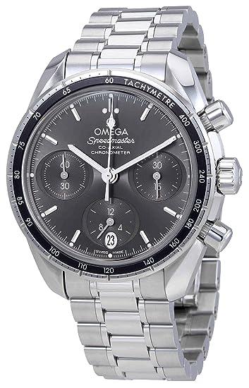 Omega Speedmaster coaxial gris Dial Automático Mens Reloj cronógrafo 324.30.38.50.06.001