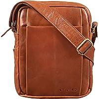 STILORD 'Harry' Bolso de Hombro para Hombre Piel Crossbody Bag Vintage Bolsa Bandolera Pour Tableta 10,1 Pulgadas de…