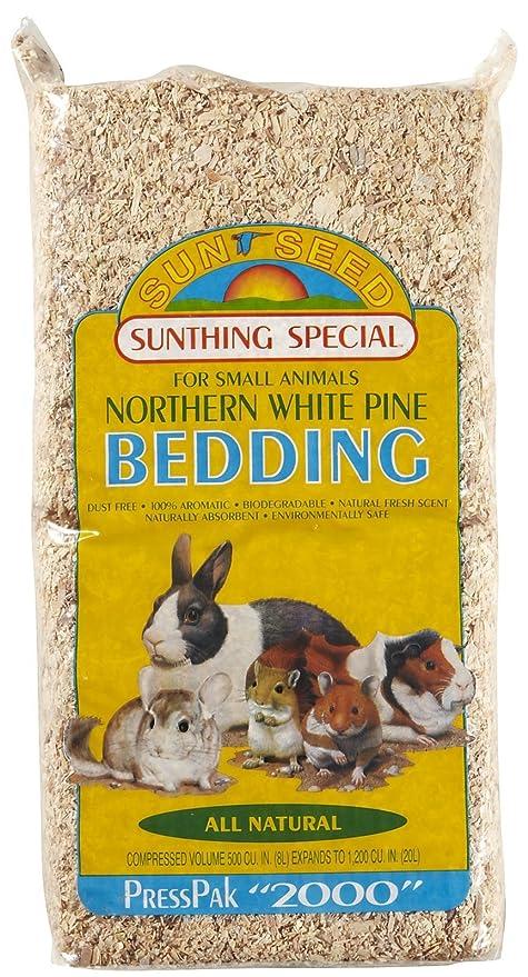 Amazon com : Sunseed Northern White Pine Bedding - 8 liters