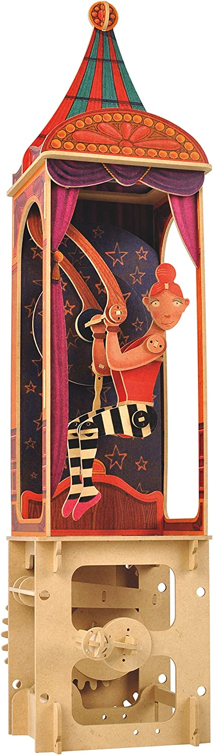 CWD401 Mini Machine Wood Kit Clockwork Dreams Automata Kit Clowns Circus Series