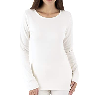 95b56de213 Cottonique Hypoallergenic Women s Thermal Long Sleeve Made from 100%  Organic Cotton (4