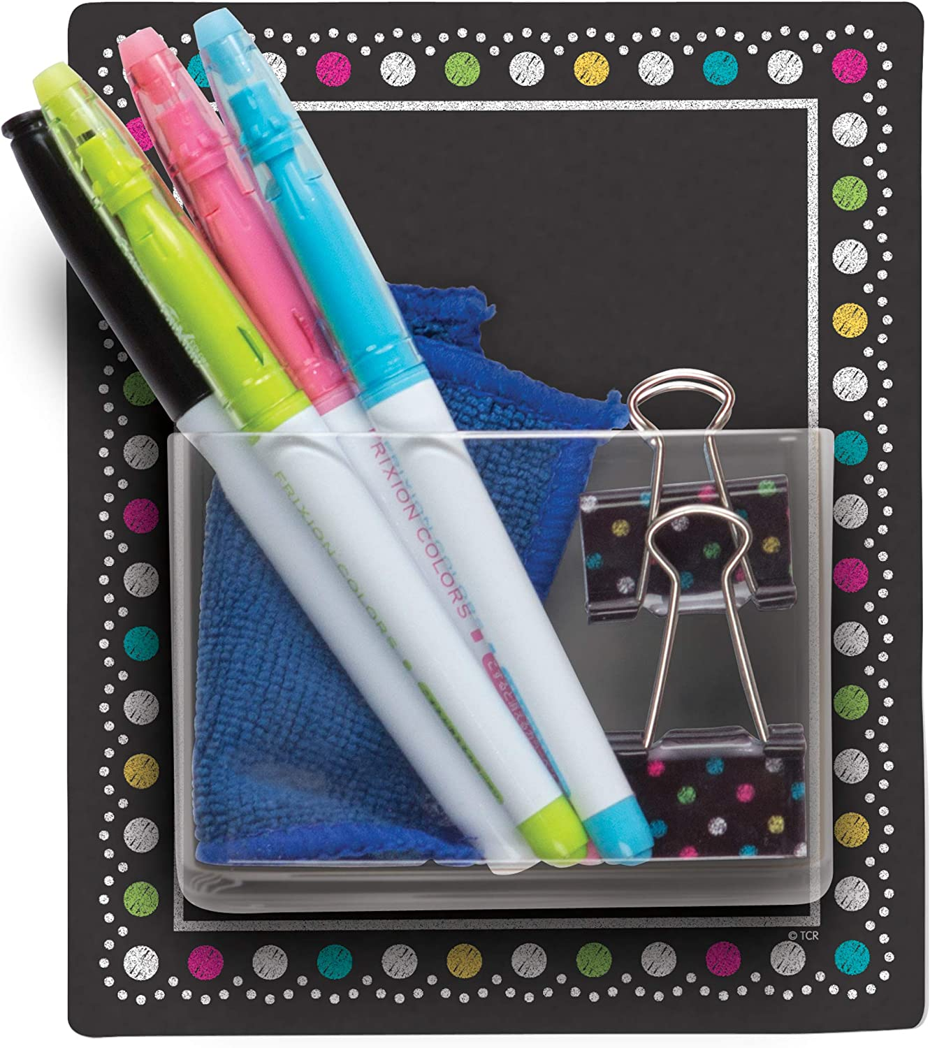 Teacher Created Resources Clingy Thingies Storage Pocket Chalkboard Brights