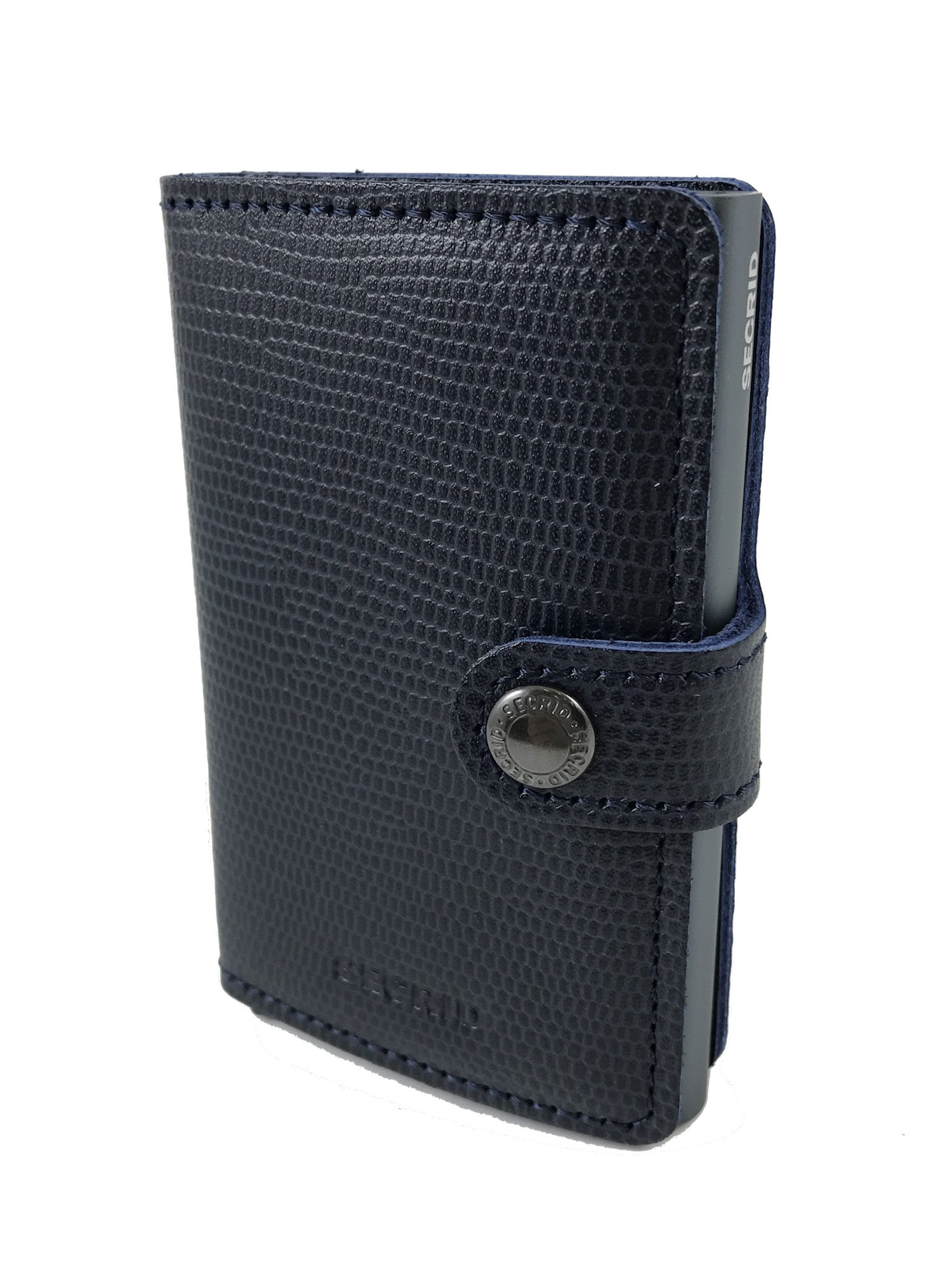 Secrid Miniwallet Rango Blue Titanium Leather Wallet SC5557 by Secrid