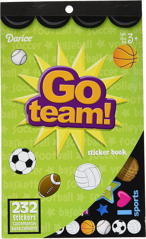 Darice 106-2286 232 Piece Go Team Themed Sticker Book