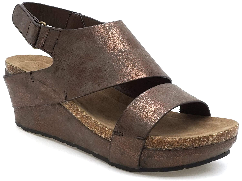 Bronze6c MVE shoes Women's Open Toe Strappy Platform Sandals