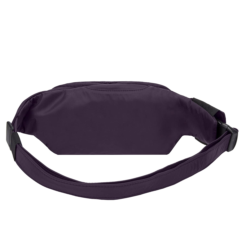 Purple One Size Travelon Anti-Theft Classic Slim Waist Pack
