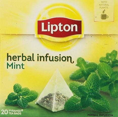 Lipton Infusion Herbal Tea - Mint - Bolsas de té piramidales ...