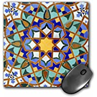 3dRose 8 x 8 x 0.25 Inches Mouse Pad, Morocco, Hassan Ii Mosque Mosaic, islamic Tile Detail, Kymri Wilt (mp_73580_1)