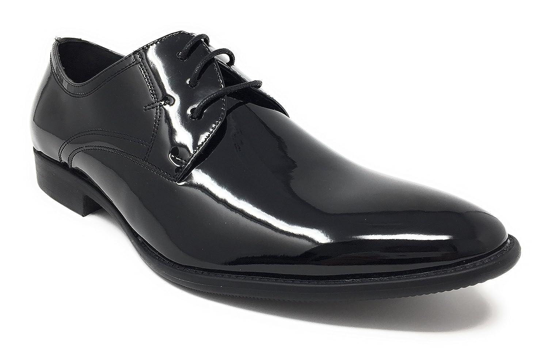 Herren Abend / Uniform / Oxford schuhe Schwarz Lack - Schwarz Lackleder, 7 UK