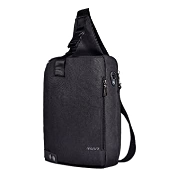 d1cc0f50bac MOSISO Sling Backpack with Metal Button, Polyester Travel Daypack Durable  Chest Shoulder Unbalance Gym Lightweight