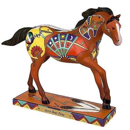 Enesco Trail of Painted Ponies Spirit Bear Stone Resin Horse Figurine, 6.4