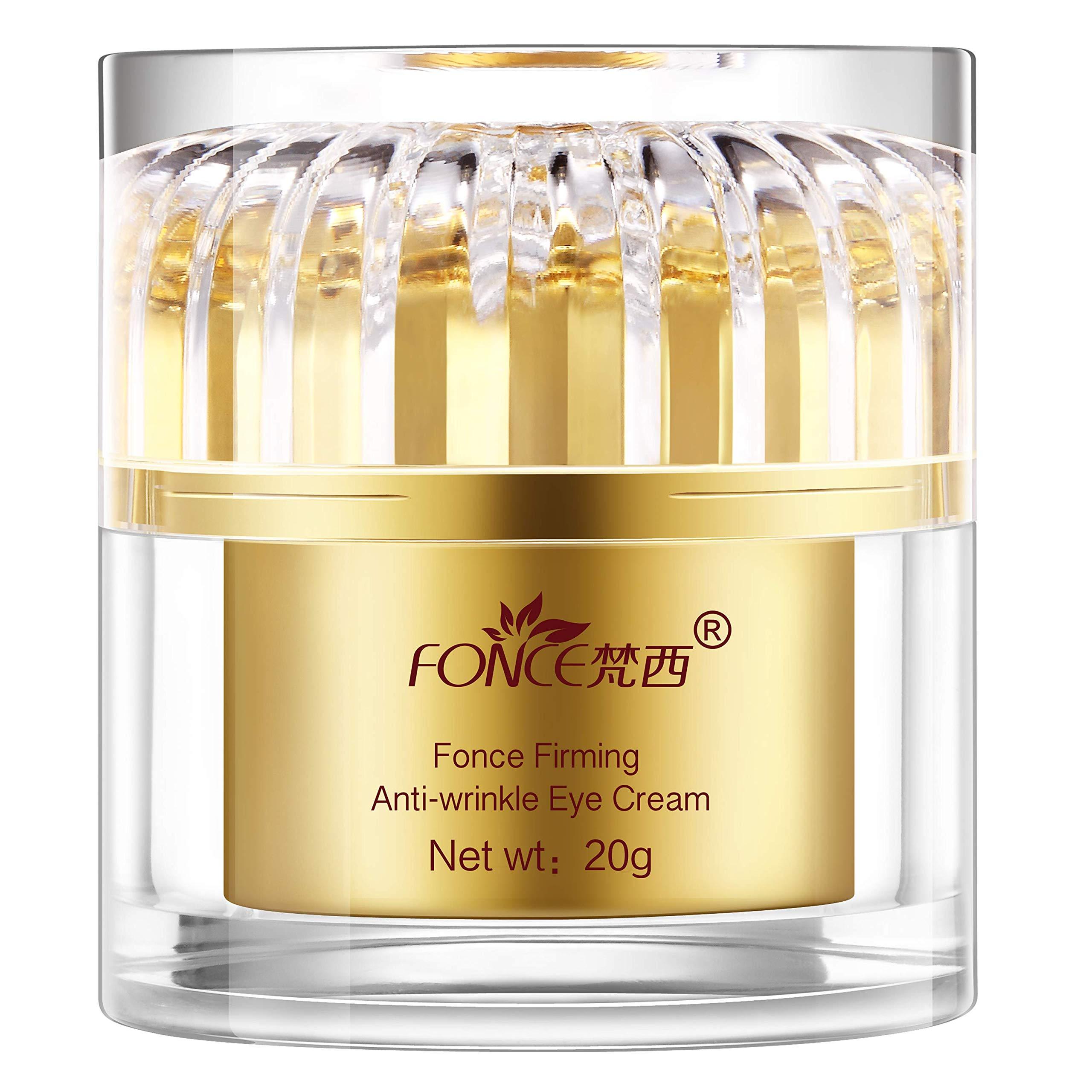 Fonce Retinol Moisturizer Cream for Eye Area,BEST Korean Eye Cream Anti-Wrinkle&Fine Line Anti-Aging Fade Wrinkles Plant Extract Tighten Skin Eye Cream for Men&Women