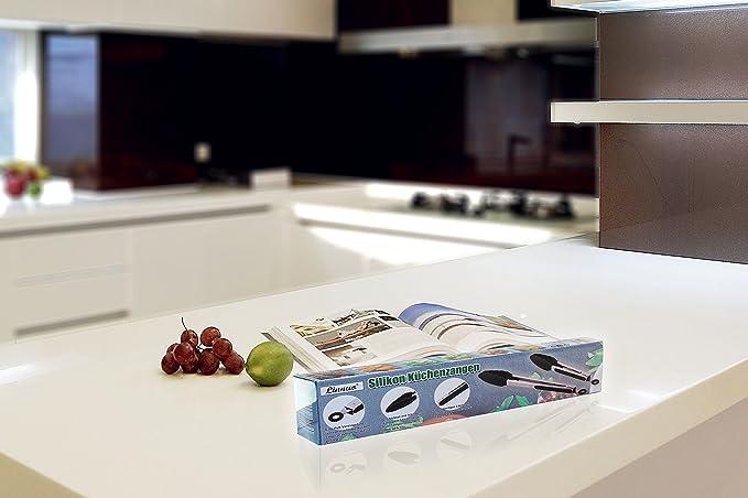 Linnuo küchenzange grillzange salatzange mehrzweckzange 2er set zange aus hochwertigem edelstahl und hitzebeständigem silikon ideal für grillen kochen