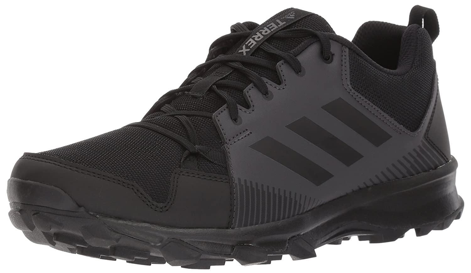 Adidas Outdoor Men's Terrex Tracerocker Trail Running shoes, Black Black Utility Black, 8 D US
