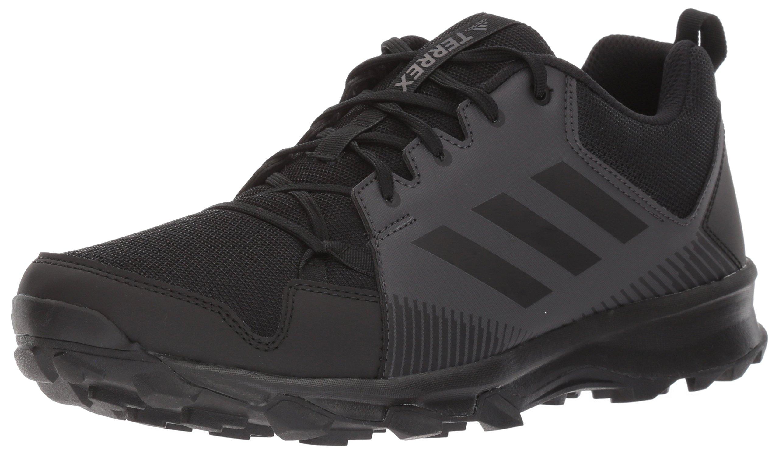 adidas outdoor Men's Terrex Tracerocker Trail Running Shoe, Black/Black/Utility Black, 10 D US