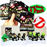 Ghostbusters Original Ecto Minis Basic Figure Mystery Blind Bags Gift Set Party Bundle - 4 Pack (Assorted)