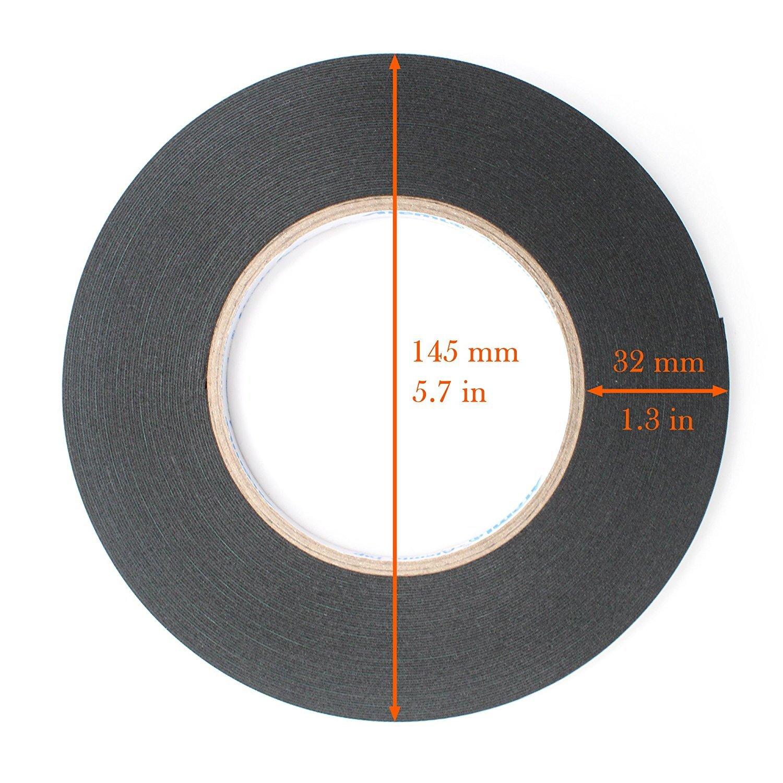 15mm Atemto Ruban Adhesif Double Face Mousse Extra Fort 19.68mil X 0.59 pouces X 65ft Colonne Adh/ésive /à R/ésistance Industrielle R/ésistant /à la Poussi/ère /étanche /à leau Ruban Mousse