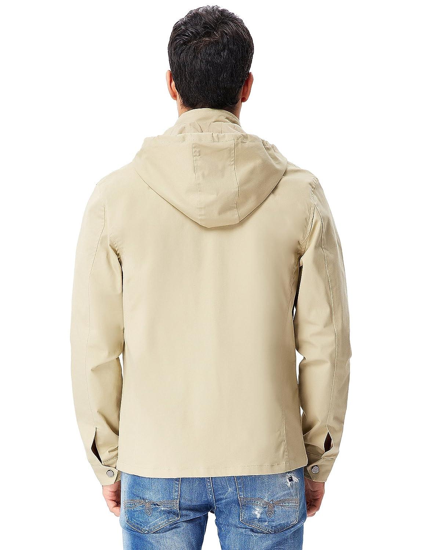 PaulJones Vendita A Magazzino Vuoto Uomo Cappotto con Cappuccio Top Top Zip in Cotone Slim Fit