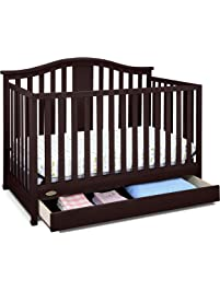 Graco Solano 4-in-1 Convertible Crib with Drawer, Espresso, Easily Converts to Toddler Bed Day Bed or Full Bed, Three...