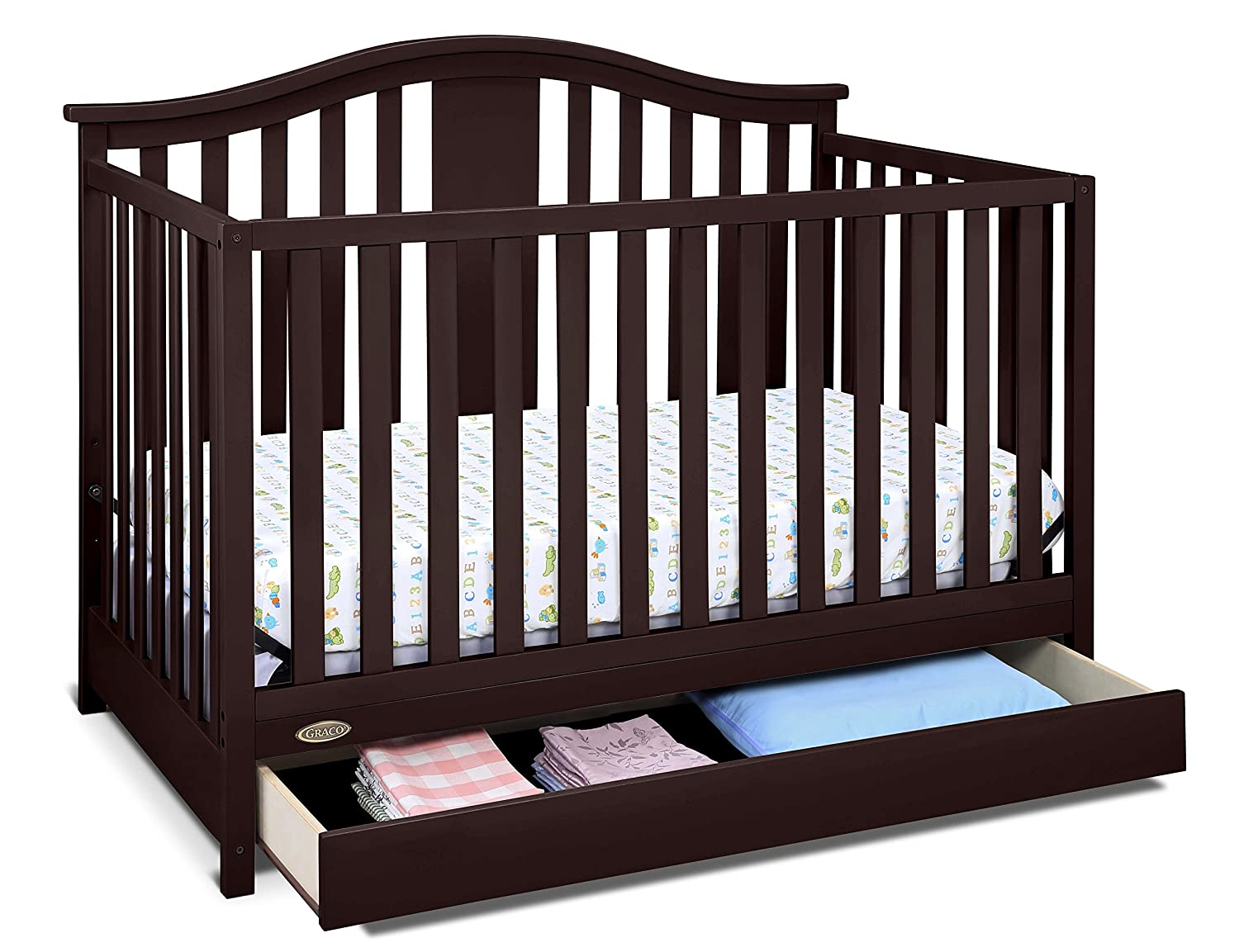 Baby Crib Infant Convertible Toddler Bed Nursery Furniture