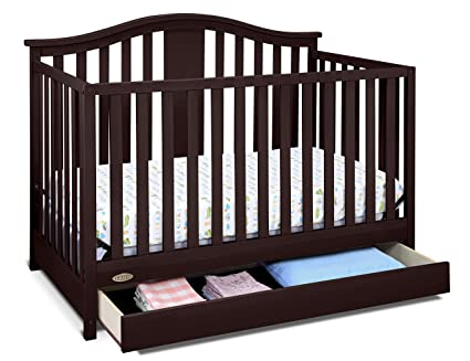 Graco Solano 4-in-1 Convertible Crib with Drawer, Espresso, Easily Converts to Toddler Bed Day Bed or...